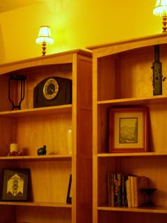 Bedroom 2  - bookcase with good selection of books to read