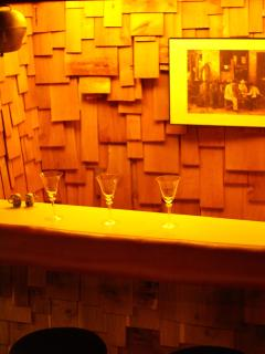 Wet bar located in bottom level family room