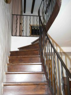 Original wooden stairs to first floor