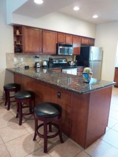 Kitchen With Breakfast Bar and Additional Seating