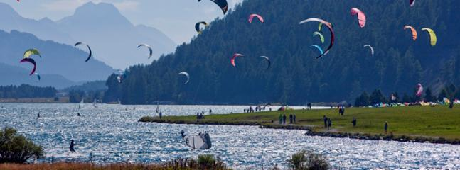 Kitesurf on the Silvaplana lake