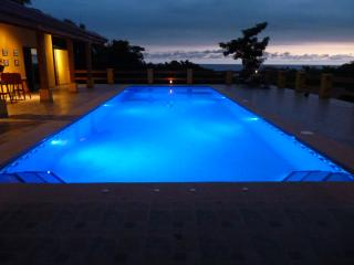 pool at evening