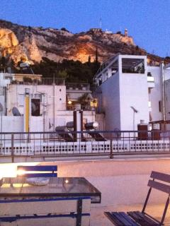 View of Lycabetus Hill from the terrace!