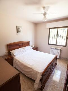 Double bed on ground floor