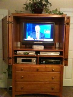Master Bedroom Entertainment Ctr with DVD Player & Surround Sound