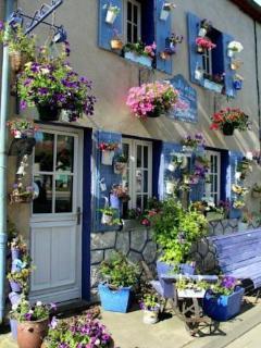 la maison facile a reconnaitre quand vs arrivez au bourg de LA CELLE qui est a 8 KMS DE COMMENTRY