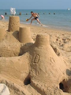 Sand castles at Bourenmouth