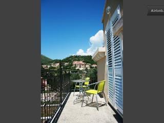 Balcony on a sunny day.