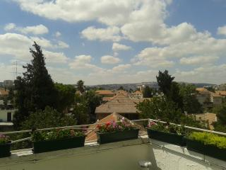 Charming apt with a roof terrace, Jerusalén