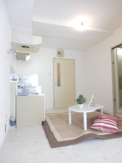 Kitchen, Separate wash basin, Bathroom with Tub and Toilet. Hot and cold water & Led light