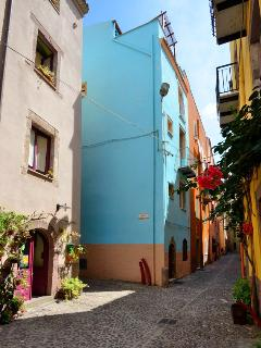 Dommu Asuletta or 'blue house' is sat on the corner of one of the most photographed streets of Bosa.