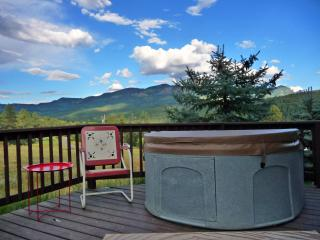 Jacuzzi Style Hot Tub on Deck with Stunning Panoramic Mountain and Valley Views