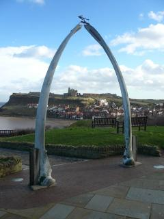 WHITBY ABBEY FROM THE WHALE BONES