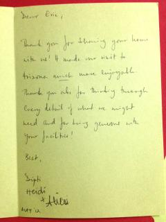Yet another happy guest :-)