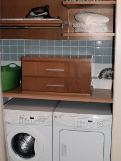 Convenience of washer & dryer.