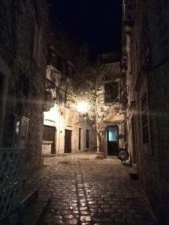 One of many old town romantic streets in Hvar