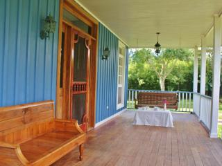 Front Porch with 2 swings