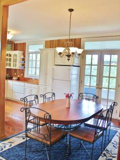 Dining Room and French Doors to Porch