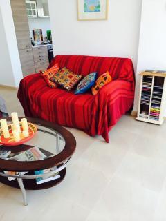 Living room viewed from the front door