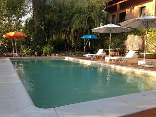 Beautiful holiday villa with a large saline pool, Sils