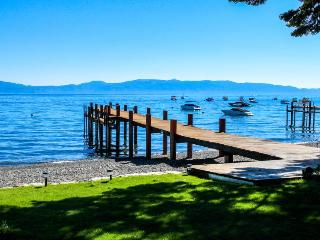 Tahoe Lakefront with Sandy Beach, Pier & Buoy, Homewood