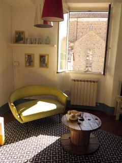livingroom (Santa Croce outside the window)