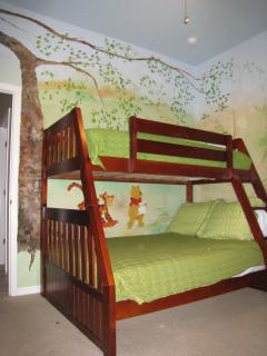 Jungle Theme room, with bunkbed