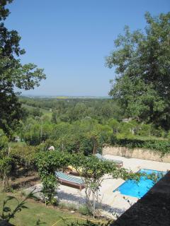 View across pool terrace
