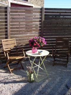 Sunny spot on the terrace