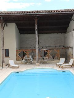 12m long private pool with games room (beyond)