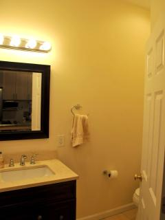 MIRROR VANITY LIGHTING IN ADDITION TO OVERHEAD LIGHTS