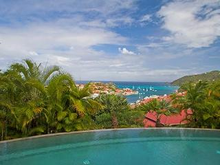 Private estate with panoramic harbor and sunset views  WV FAB, Gustavia