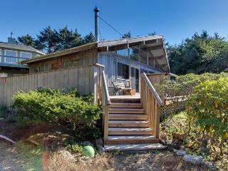 Vintage charm in an oceanfront beach cabin with amazing views - dogs OK