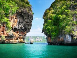 The Lagune from the nearest island ,,Hong,,