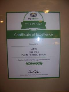 2014 TRIPADVISOR AWARD OF EXCELLENCE 5 STAR