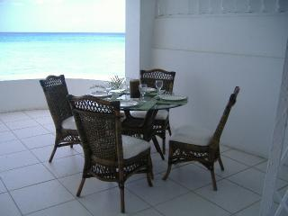 ready for dinner on large verandah
