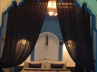 Majorelle Blue room in private riad