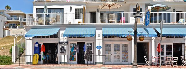 Unique shopping and dining across the street from the beach and pier