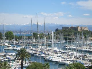 French Riviera view marina Antibes