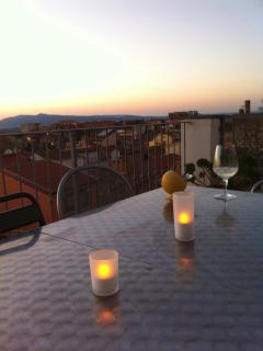 Enjoy the sunset and a drink on the terrace, the view is complimentary!