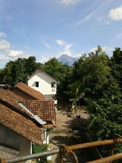 merapi view from balcony