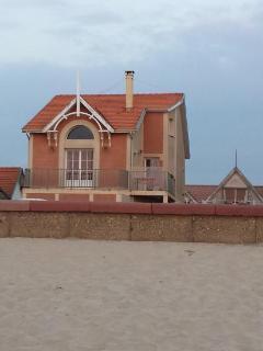 Maison vue de la plage...