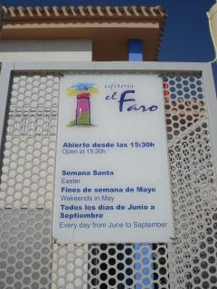 Café El Faro 50 meters away