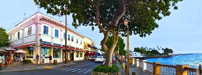 Lahaina Town just 5 miles from The Whaler