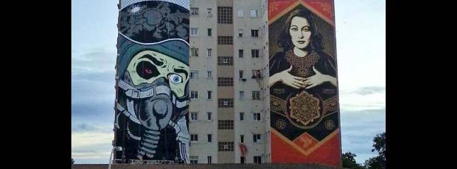 Arte Urbano desde terraza