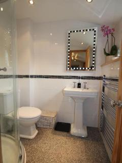 Spacious shower room.