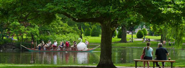 Public Gardens  8 min walk away