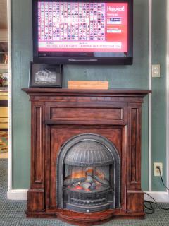 TV with Fireplace like heater