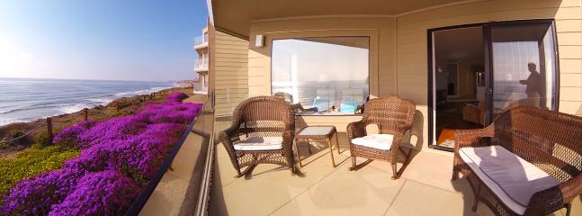 Oceanfront private patio w BBQ area to north just out of this view