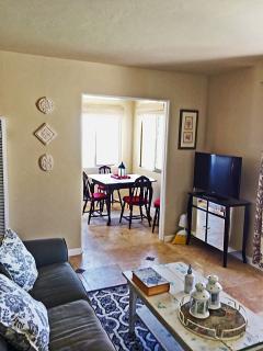 Living room with sit down ocean vistas